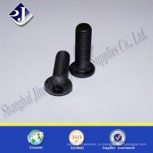 Винт с высококачественной черной обработанной углеродистой сталью