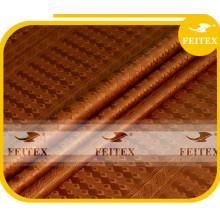 Riche de Damas de coton de la Guinée équatoriale de tissu de Bazin de tissu de Bazin de textiles pour la noce