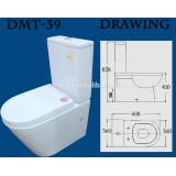 DMT-39 ceramic western two piece toilet models with good price
