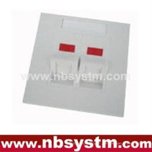 Face Plate 2 port, 45 degrés, taille: 86x86mm