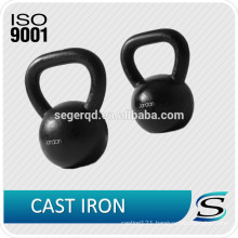 Black painted cast iron kettlebell 15kg