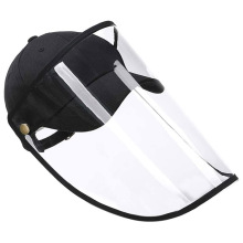 Anti Spitting Clear Face Shield Protective Hat Cover