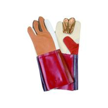 Möbel-Schweißensicherheit Arbeitshandschuh-Regenbogen-Farbe 2PCS Rückseite mit PVC-Stulpen-Stulpe