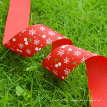 Оптовая печати grosgrain лента / открытая ткань Рождество ленты