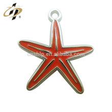 Custom zinc alloy casting enamel metal star charm pendant