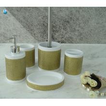 Фабрика оптовая пользовательских дешевые ванна комплект 5 шт. аксессуары для ванной комнаты