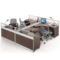 Moderno conjunto de estaciones de trabajo para oficina de oficina para 4 personas