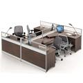 Modern office furniture workstation cluster for 4 person office computer workstation desk