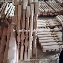 Escalón de madera maciza poste balaustre de roble rojo