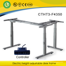 L shape automatic adjustable table frame Electrical height adjustable desk