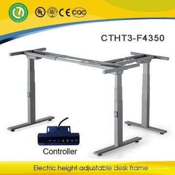Marco ajustable automático de la tabla de la forma de L Escritorio ajustable eléctrico de la altura