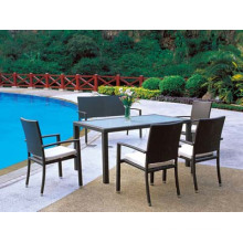 Garden Rattan Dining Chairs and Table Outdoor Dining Set