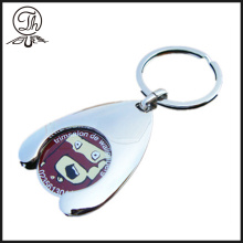 Trolley engraved token coin keyrings metal