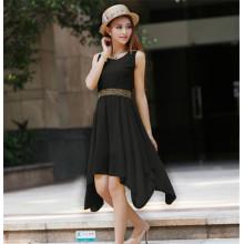 OEM Service Cheap Casual Simple Korean Long Dress Chiffon (50219)