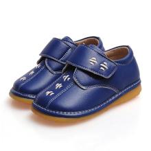 Marinha Bebê Sapatos ásperos Calçado de couro genuíno