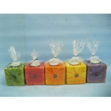 Abóbora candlestick forma cerâmica artesanato (loe2366b-7z)