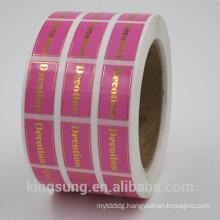Custom Printed Self Adhesive Gold/Silver Hot Stamp Foil Paper Label