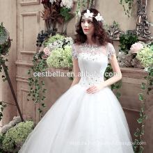 2016 nuevo estilo europeo de moda Ver a través de vestido de novia vestido de novia de encaje