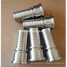 Raccord d'étanchéité sanitaire en acier inoxydable pour système de tuyauterie