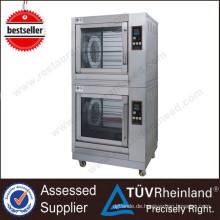 Handelshühner-Rotisserie-Grill mit Bewegungsküchen-Ausrüstungs-2-Schicht Rotisserie für Verkauf