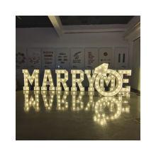 Large love marquee lights led lights for channel letters love sign Mr Mrs wedding vintage bulb letter sign