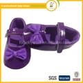 2015Hot que vende los zapatos de la princesa del bebé con los primeros caminadores del paño del velcro de los bebés del bowknot / de la manera