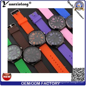 Yxl-181 Красочные Ремешок Свободного Покроя Часы Силиконовые Горячей Продажи Кварцевые Наручные Часы Мужчины Женщины Оптовая