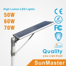 60W All in One Solar Street Light with Sensor