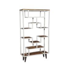 Tall Metal/Wood Book Shelf