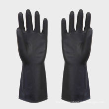Heavy Industry Latex Work Gloves With Beaded Cuff For Protective Hands