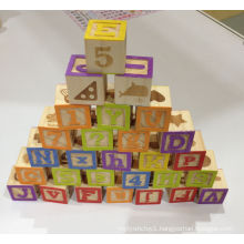 50PCS Impact Print Wooden Blocks Toy