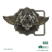 Boucle de ceinture de logo 3D matérielle adaptée aux besoins du client d'alliage de zinc
