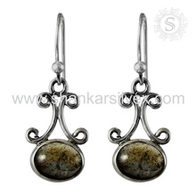 Beautiful labradorite silver earring gemstone jewelry 925 sterling silver jewellery indian manufacturing