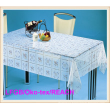 Cheap PVC Printed Transparent Tablecloth / Table Cover