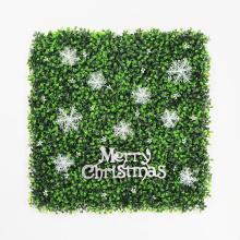 Beautiful DIY custom christmas decoration hedge for festive
