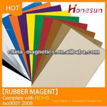 Colorful permanent rubber magnet magnetic mat /catcher 10x20x0.3