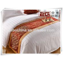 Luxuoso hotel cama cauda toalha / cama lenço decoração
