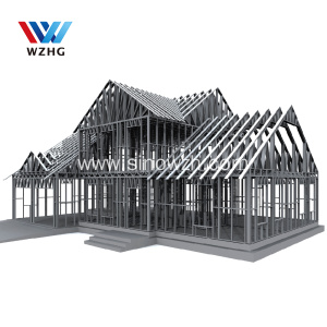 Villa use G550 Galvanized light steel frame