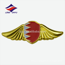 Metal gold plating wing shaped Bahrain national flag badge