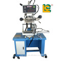 Hot foil stamping machine for glass bottles