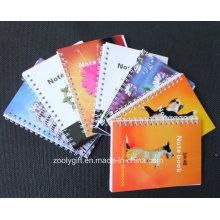 Cuaderno espiral de la cubierta suave Cuaderno personalizado del ejercicio de la escuela