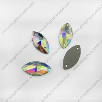 АБ стеклянные ювелирный камень машина вырезать с двумя отверстиями