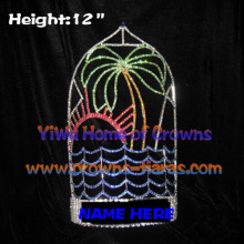 12inch Palm Tree Sea Water Sun Crystal Pageant Crowns