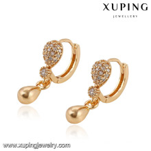 92888 Xuping nouvel été spécial plaqué or boucle d'oreille pour la fête