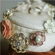 2014 Rose flower pearl fashion bracelet