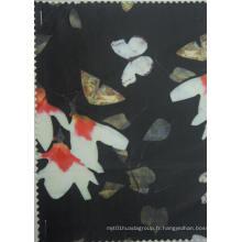 Tissu d'impression de polyester de fleur de magnolia de 230d