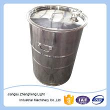 200L barril de aço inoxidável com grampo e rigidez