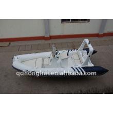 CE RIB520 iate de luxo de barcos infláveis com motor de popa de cabine
