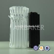 Uso durable las bolsas inflables de aire amortiguador bolsa con PE/PA amortiguador de aire bolsa de plástico transparente para cartucho de tóner del embalaje