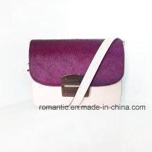 Atacado Moda Mulheres Fur Leather Genuine Handbags (NMDK-501-1G)